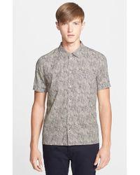 Paul Smith Classic Fit Clown Print Short Sleeve Sport Shirt - Lyst