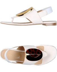 Sergio Rossi Thong Sandal - Lyst