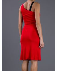 Valentino Roma Strapless Dress red - Lyst
