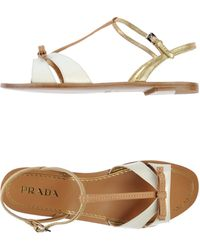 Prada Sandals brown - Lyst