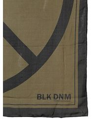 BLK DNM - Peace Sign Printed Silk Scarf - Lyst