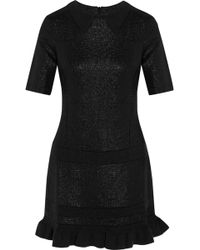 Kenzo Metallic Jacquard Mini Dress - Lyst