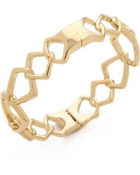 Alexis Bittar Fancy Linked Hinge Bracelet Gold - Lyst