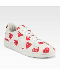 Comme Des Garçons Canvas Lace-up Sneakers - Lyst
