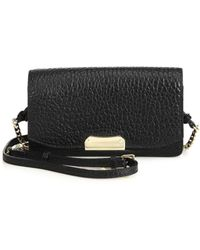 Burberry Madison Small Pebbled Leather Clutch black - Lyst