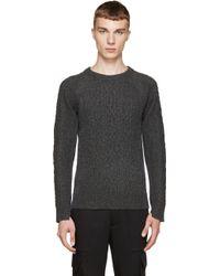 Diet Butcher Slim Skin - Grey Two_tone Sweater - Lyst
