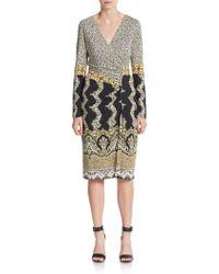 Etro Paisley & Cheetah-Print Dress - Lyst