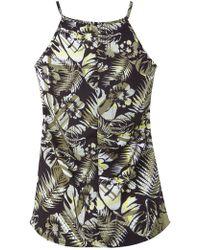 Miss Selfridge Jungle High Neck Cami Top - Multicolour