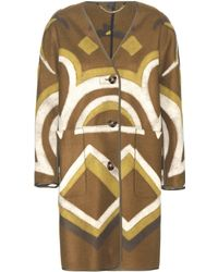 Burberry Prorsum - Printed Cashmere Coat - Lyst