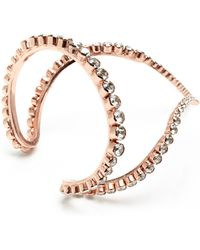 Ryan Storer M'O Exclusive: Rose Gold Plated Single Row Wrap Bracelet - Metallic