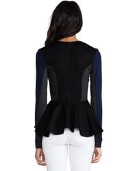 Torn By Ronny Kobo - Judy Color Block Ponti Top in Black - Lyst