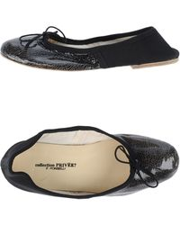 Collection Priveé Black Ballet Flats - Lyst