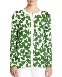 Kate Spade Garden Leaves Cardigan green - Lyst