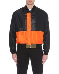 McQ by Alexander McQueen Contrast-Panel Shell Jacket - For Men green - Lyst