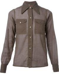 Yves Saint Laurent Vintage Pointed Collar Shirt - Lyst