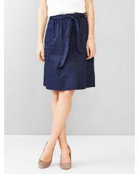 Gap Tie-Waist Skirt blue - Lyst