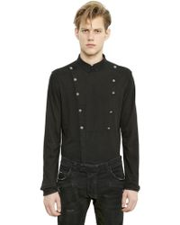 Balmain Double Breasted Cotton Jersey Shirt - Lyst