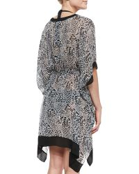 Diane von Furstenberg   Lima Printed Half-sleeve Coverup   Lyst