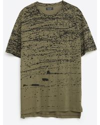 Zara   Paint Splatter T-shirt   Lyst