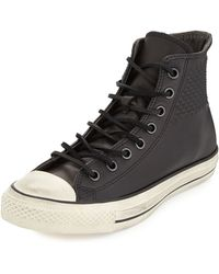 Converse John Varvatos Studded Leather High-Top Sneaker - Lyst