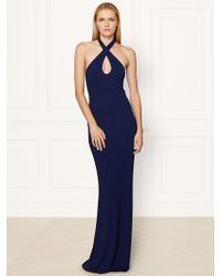 Ralph Lauren Collection Keera Halter Gown - Lyst
