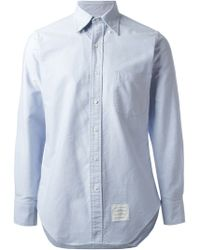 Thom Browne Slim Fit Shirt - Lyst