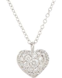 Finn - Pave Puffed Heart Pendant Necklace - Lyst