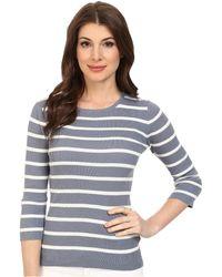 Pendleton 3/4 Sleeve Stripe Pullover - Lyst