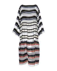 Sonia Rykiel Oversized Striped Organza Dress - Lyst