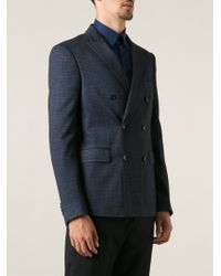 Etro Double Breasted Blazer - Lyst