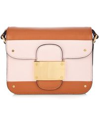 Valentino Colour-Block Striped Leather Shoulder Bag - Lyst