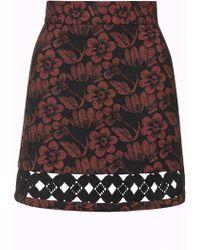 Topshop | Crochet Insert A-line Skirt | Lyst