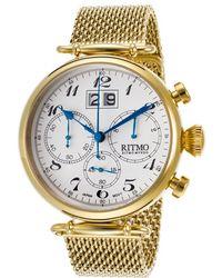 Ritmo Mundo | Men'S Corinthian Chrono Gold-Tone Ss White Dial 46Mm | Lyst