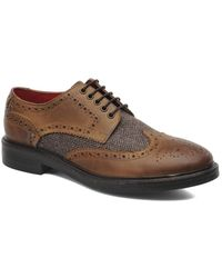 Base London Woburn Brogue Shoes brown - Lyst