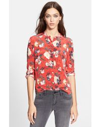 The Kooples Floral Print Silk Shirt - Lyst