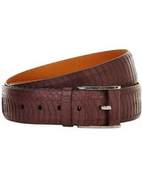 Zilli Snakeskin Belt - Brown