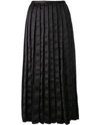 Adam Lippes Pleated Skirt - Lyst