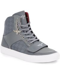 Creative Recreation Checkerboard Textileleather Hightop Sneakers - Lyst