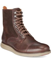 Cole Haan Lunargrand Lace-up Boots - Brown