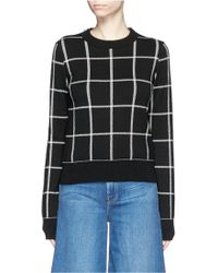 Chloé | Windowpane Check Knit Sweater | Lyst