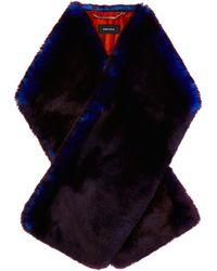 Karen Millen   Colourful Fur Scarf   Lyst
