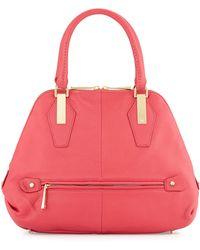 Halston Heritage Zip-Around Satchel Bag pink - Lyst