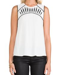 Blessed Are The Meek - Contrast Top in Ivory - Lyst