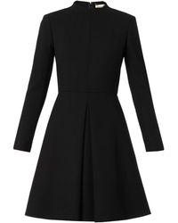 Saint Laurent Robe Woolcrepe Dress - Lyst