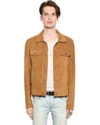 BLK DNM Clean Cut Suede Jacket - Natural