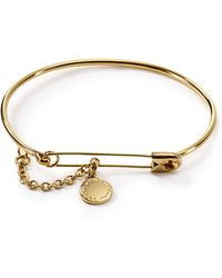 Marc By Marc Jacobs Safety Pin Bangle - Lyst