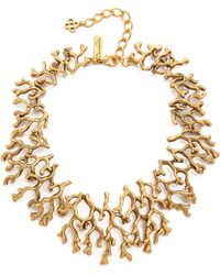 Oscar de la Renta - Coral Branch Necklace - Russian Gold - Lyst