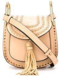 Chlo�� Hudson Leather Shoulder Bag in Brown | Lyst
