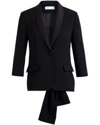 Osman Yousefzada Virgin Wool Tuxedo Jacket - Lyst