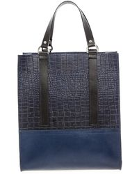 Danielle Foster - Kelly Tote Bag In Navy & Black By - Lyst